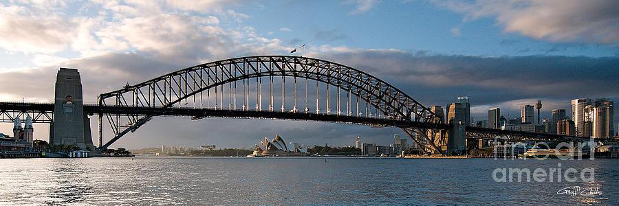 Australia Photograph - Sydney Harbour Bridge At Dawn. Art Photo Digital Download And Wallpaper Screensaver
