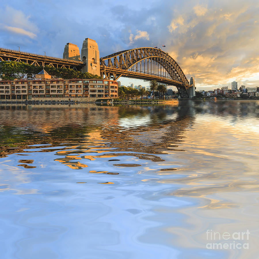 Australia Photograph - Sydney Harbour Bridge Australia Spectacular Early Morning Light by Colin and Linda McKie