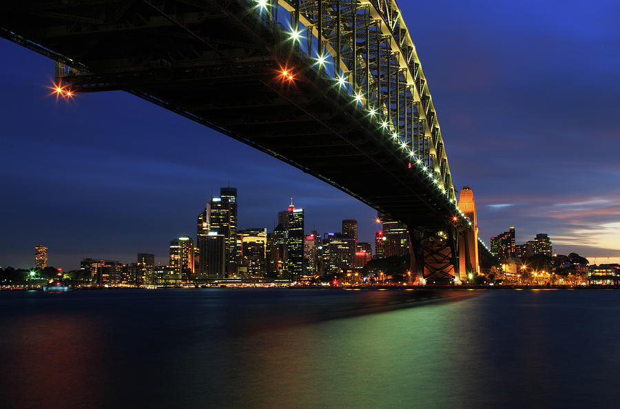 Sydney Harbour Bridge Twilight Photograph by Steve Daggar Photography