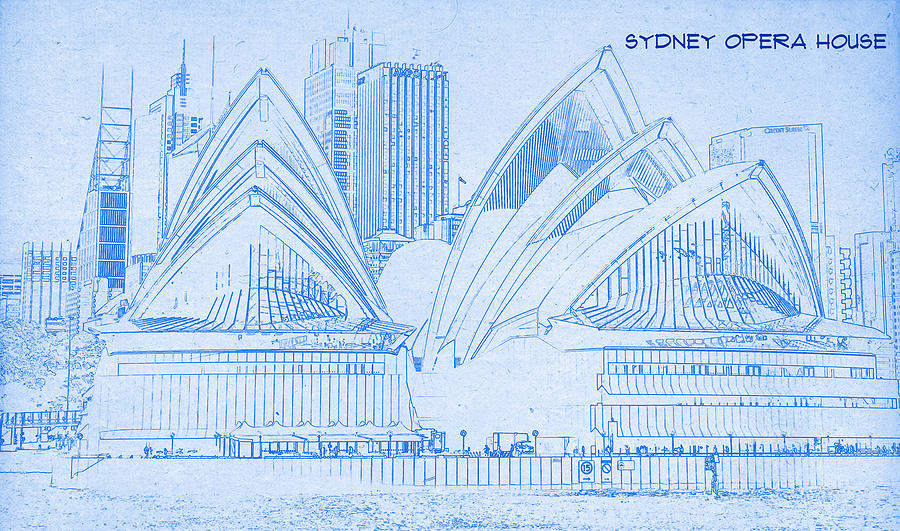 Motionage designs artwork collection antiquated architectural motionage designs sydney opera house blueprint drawing malvernweather Gallery