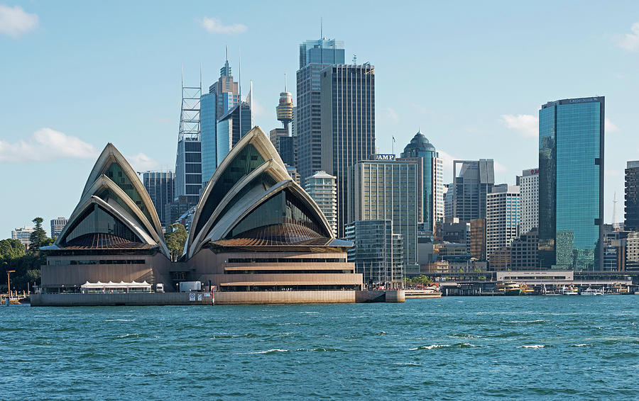 Sydney Opera House And Waterfront Photograph by Marco Simoni