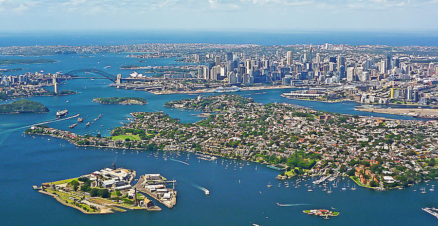 Sydney Panorama From The Air Photograph by Tony Crehan