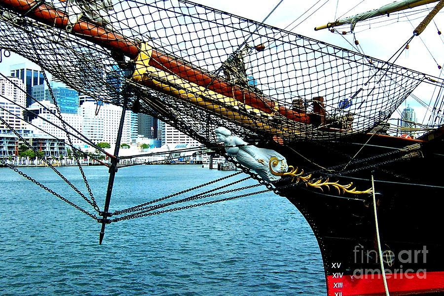 Sydney Photograph - Sydney Through Bow Sprit by John Potts