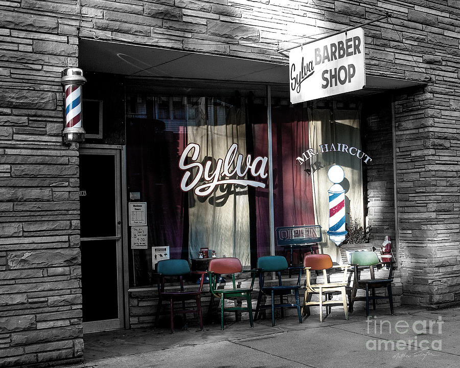 Barber Shop Photograph - Sylva Barber Shop - 2008 by Matthew Turlington