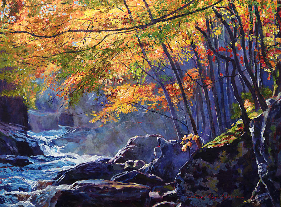 Landscape Painting - Sylvan Glade by David Lloyd Glover