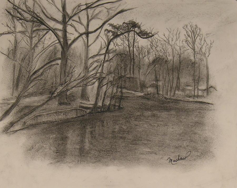 Sylvan Lake Painting - Sylvan Lake Plein Aire by Sheila Mashaw