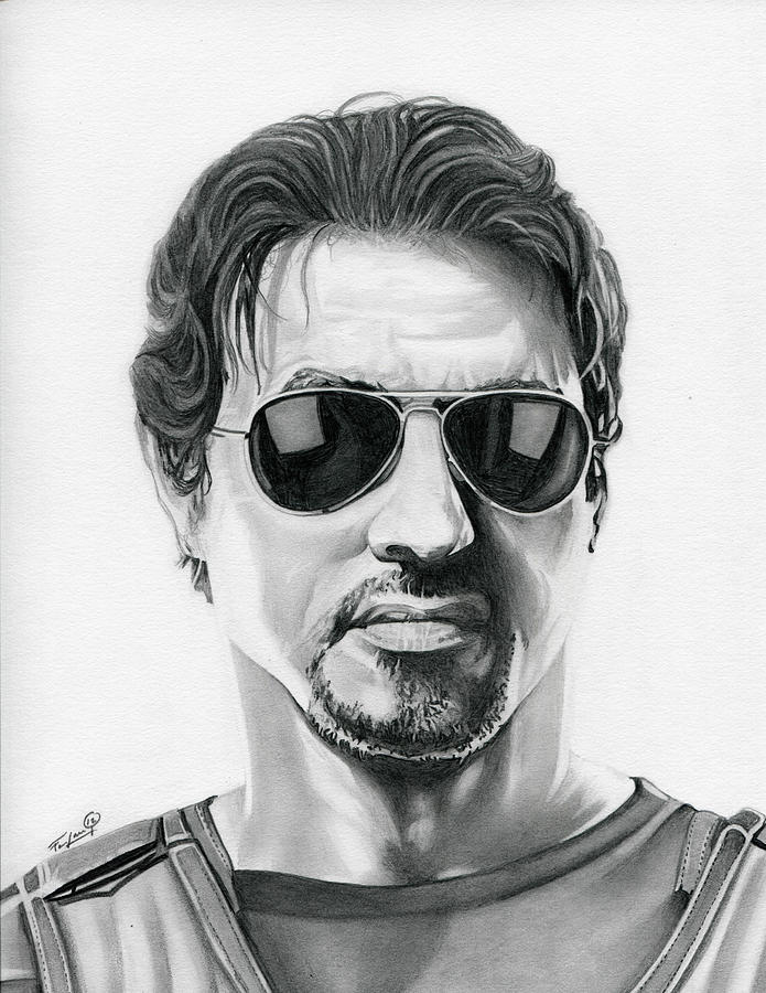 Sylvester Stallone The Expendables Drawing By Fred Larucci