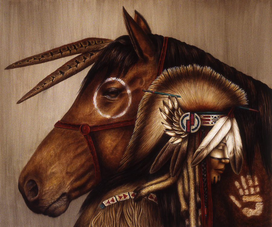 Native American Painting - Symbionts by Pat Erickson