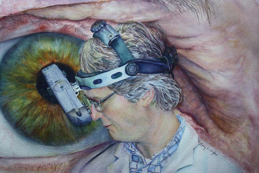 Ophthamology Painting - Symbiosis by Mary Beglau Wykes