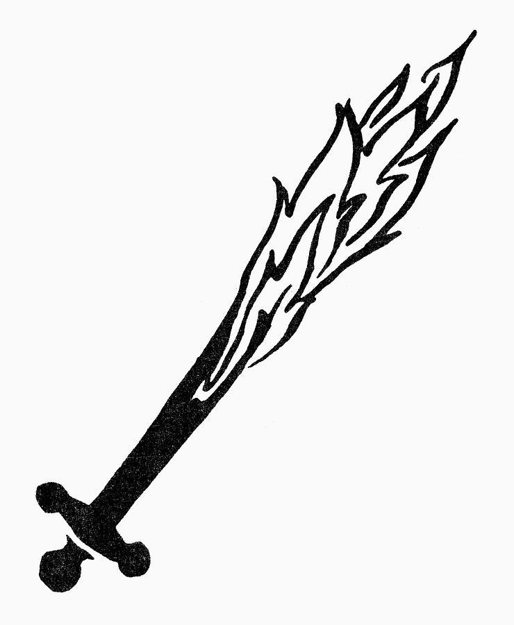 Adam Painting - Symbol Flaming Sword by Granger
