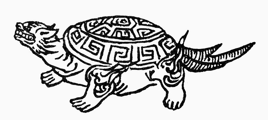 Asian Painting - Symbol Tortoise by Granger