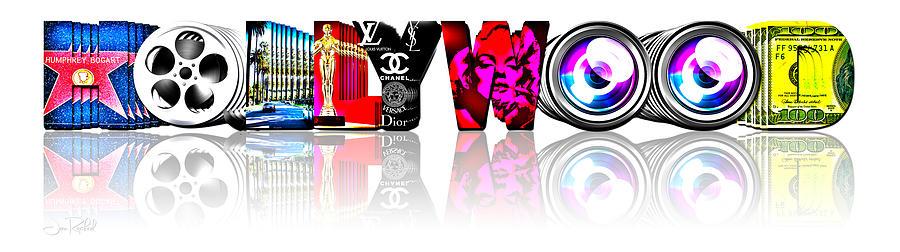 Hollywood Digital Art - Symbollywood by Jan Raphael