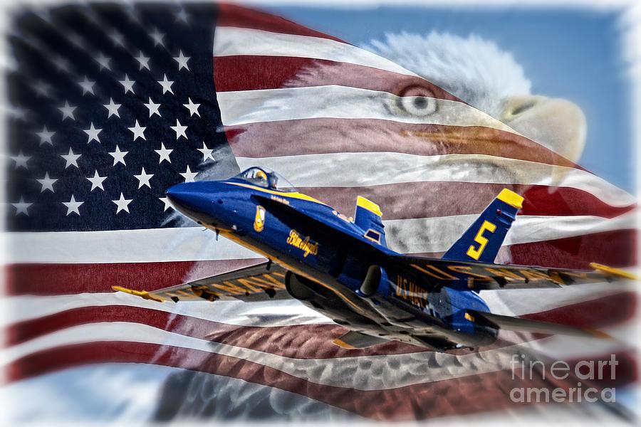 American Flag Photograph - Symbols by Bob Hislop