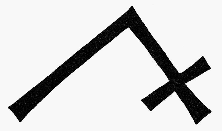 Break Painting - Symbols Chevron Cross by Granger