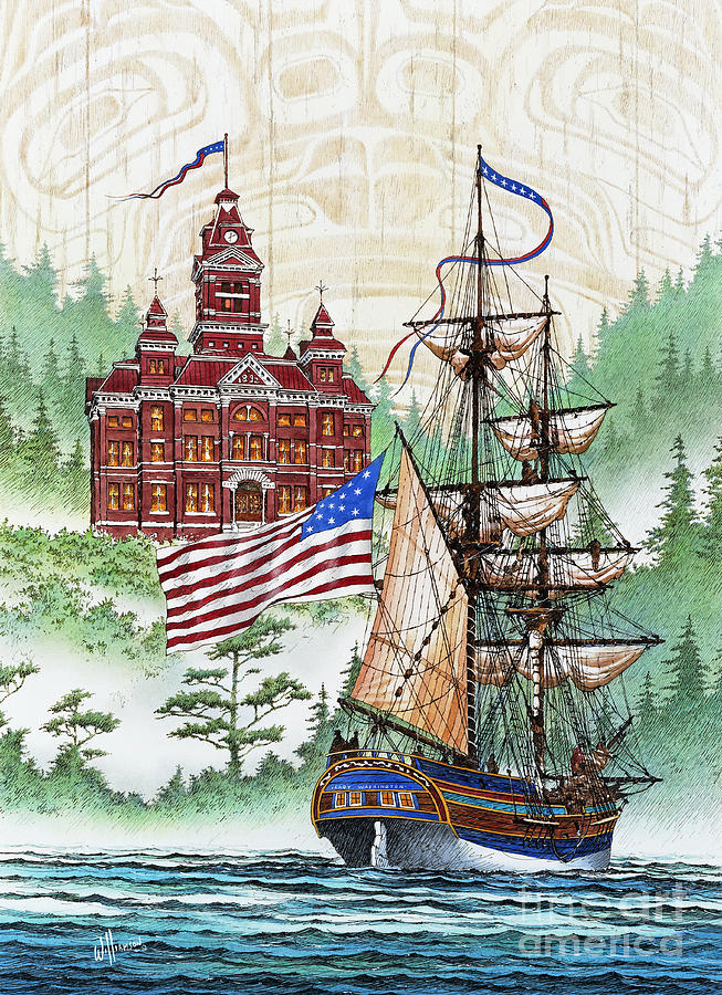 Maritime Print Painting - Symbols Of Our Heritage by James Williamson