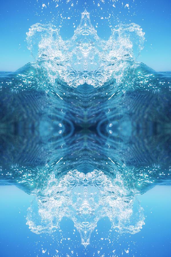 Symmetrical Mandala Of Water Splash Photograph by Marcos Welsh