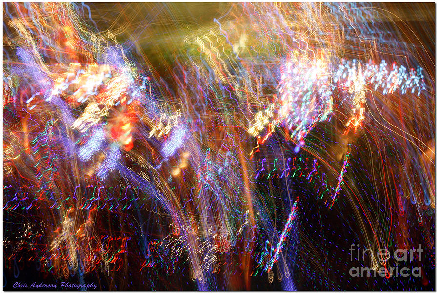 Digital Photograph - Symphonic Light Abstraction  by Chris Anderson