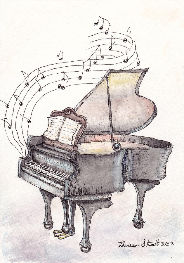Piano Painting - Symphony by Theresa Stinnett