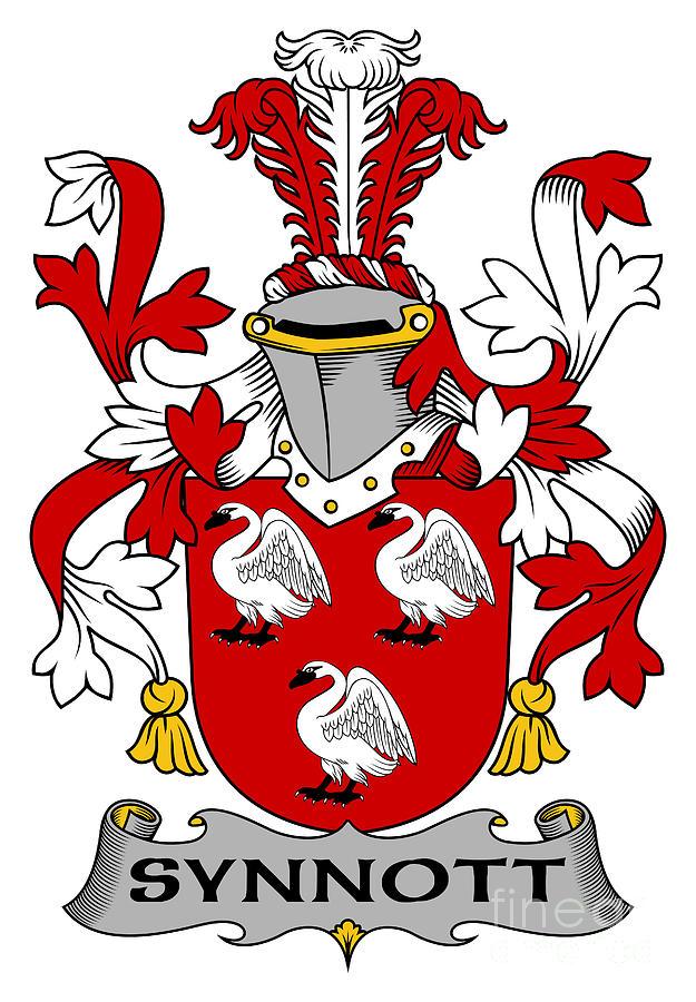 Synnott Digital Art - Synnott Coat of Arms Irish by Heraldry