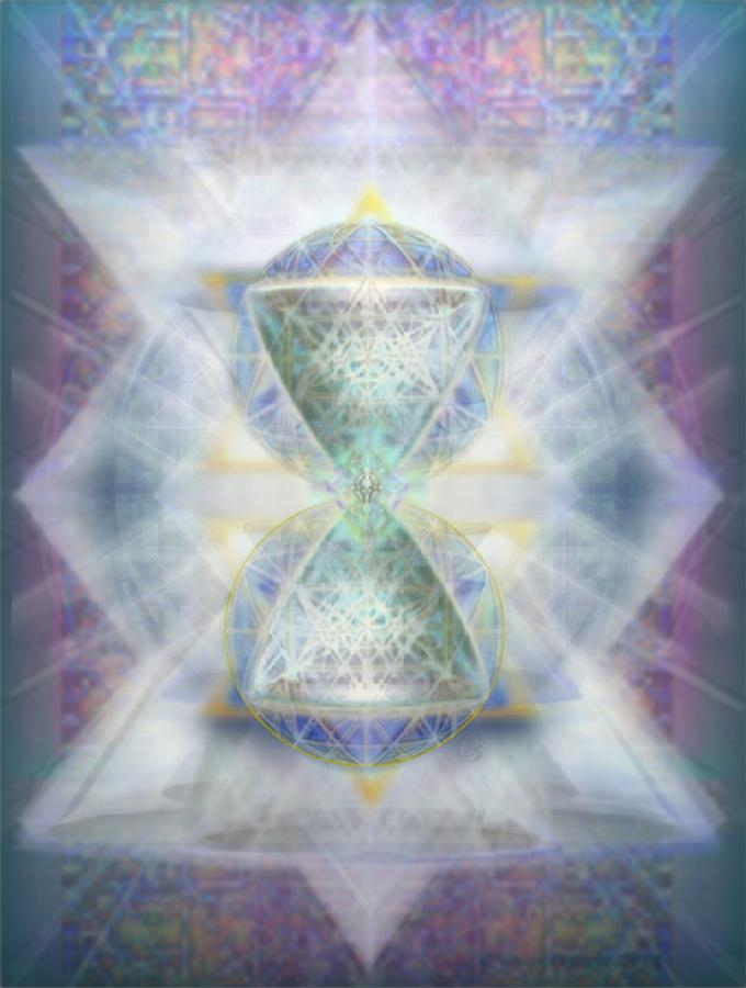 Chalice Digital Art - Synthesphered Chalice Fifouray Star On Tapestry by Christopher Pringer