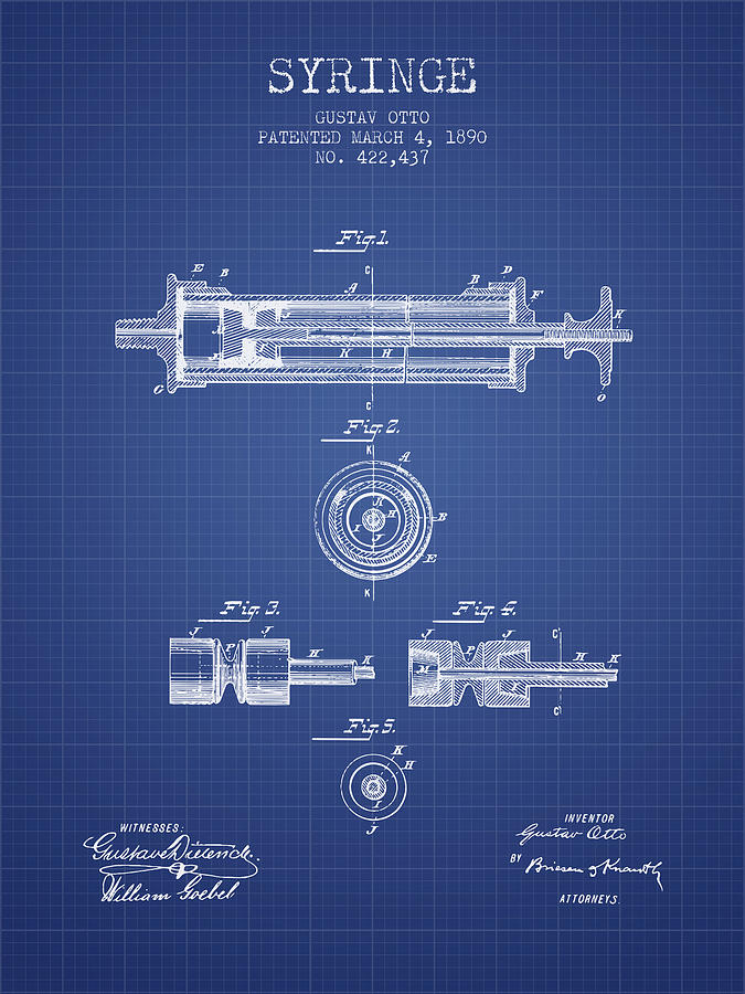 Syringe patent from 1890 blueprint digital art by aged pixel medical device digital art syringe patent from 1890 blueprint by aged pixel malvernweather