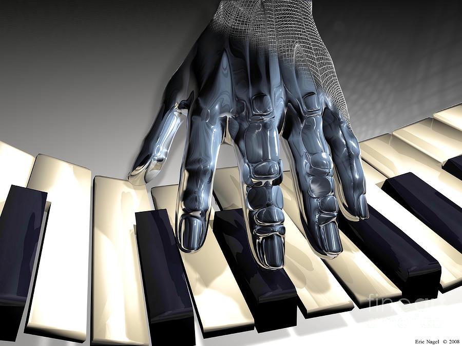 Hand Digital Art - T-age by Eric Nagel
