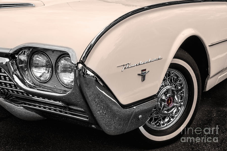 Fender Photograph - T-bird Fender by Jerry Fornarotto