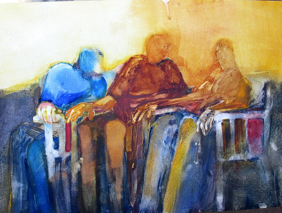 Figures Painting - T. G. I. F. by Helen Hayes