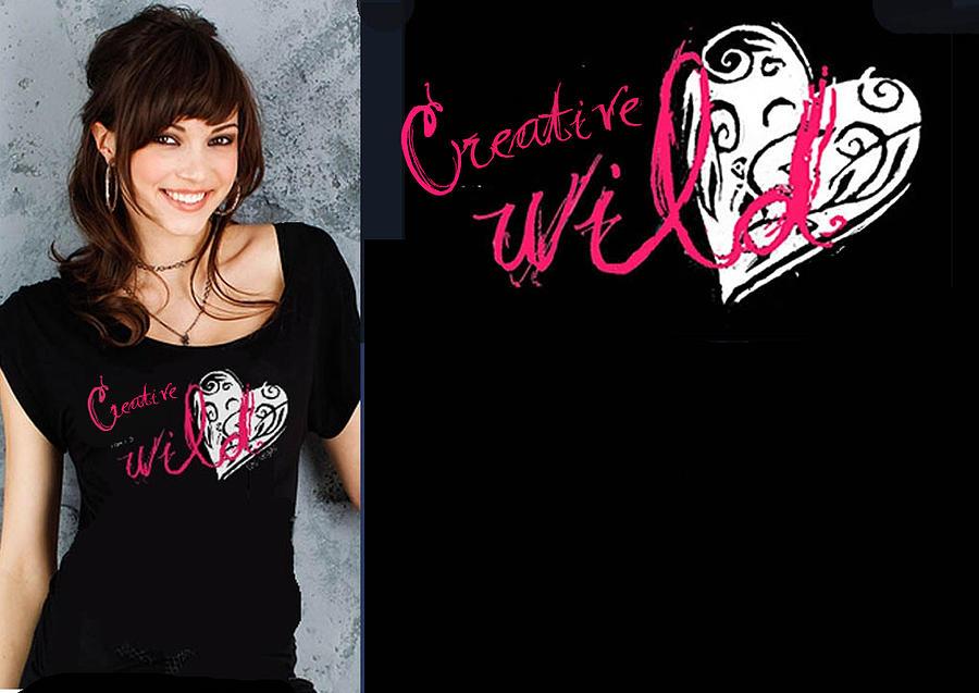 Digital Art - T-shirt Design - Creative Wild Heart by Wendy Wiese