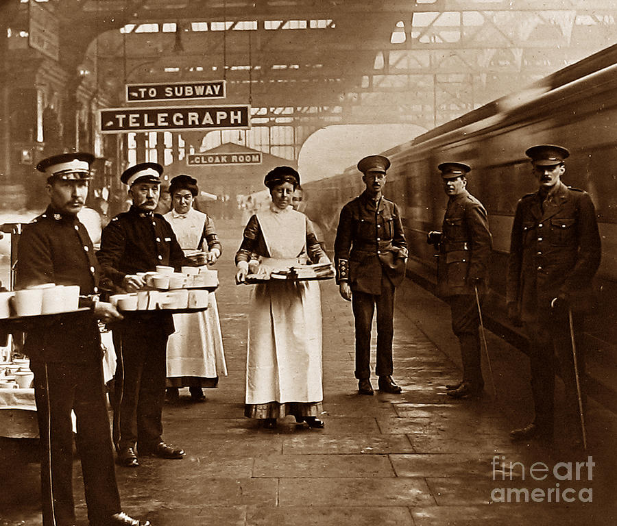The Red Cross And St. Johns Ambulance Brigade During Ww1 England Photograph by The Keasbury-Gordon Photograph Archive