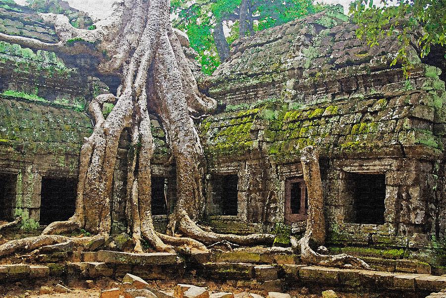 Cambodia Photograph - Ta Prohm Temple Ruins by Dennis Cox