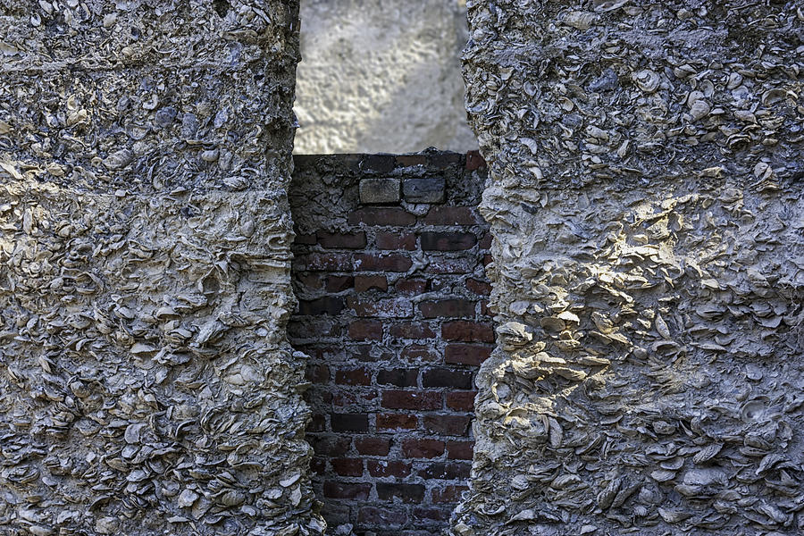 Tabby Photograph - Tabby Wall With Red Brick Infill by Lynn Palmer