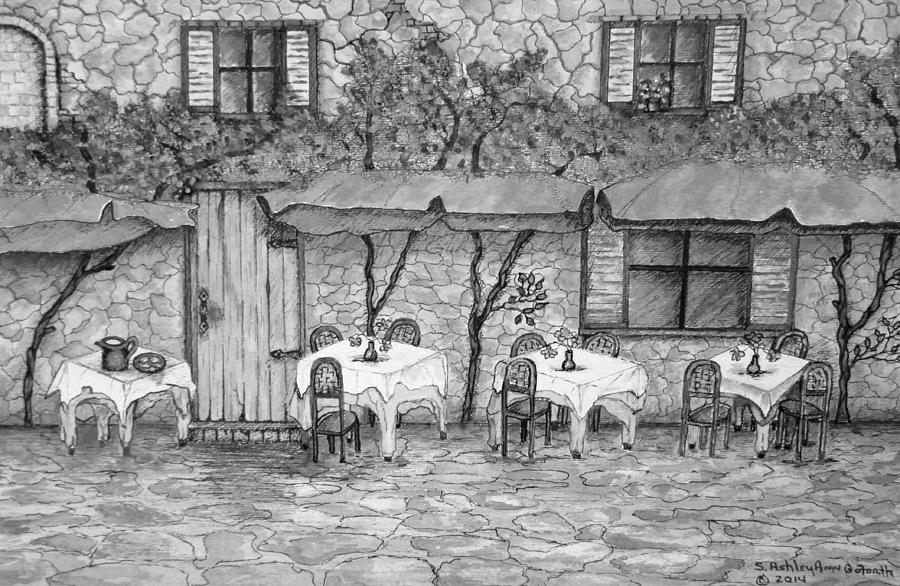 Table for Three Black and White by Ashley Goforth