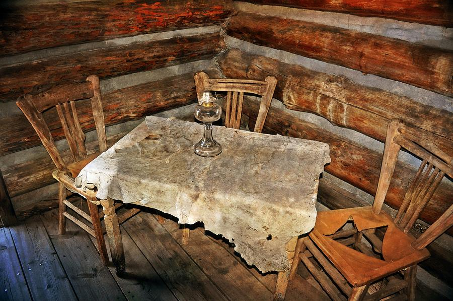Rustic Photograph - Table For Three by Marty Koch