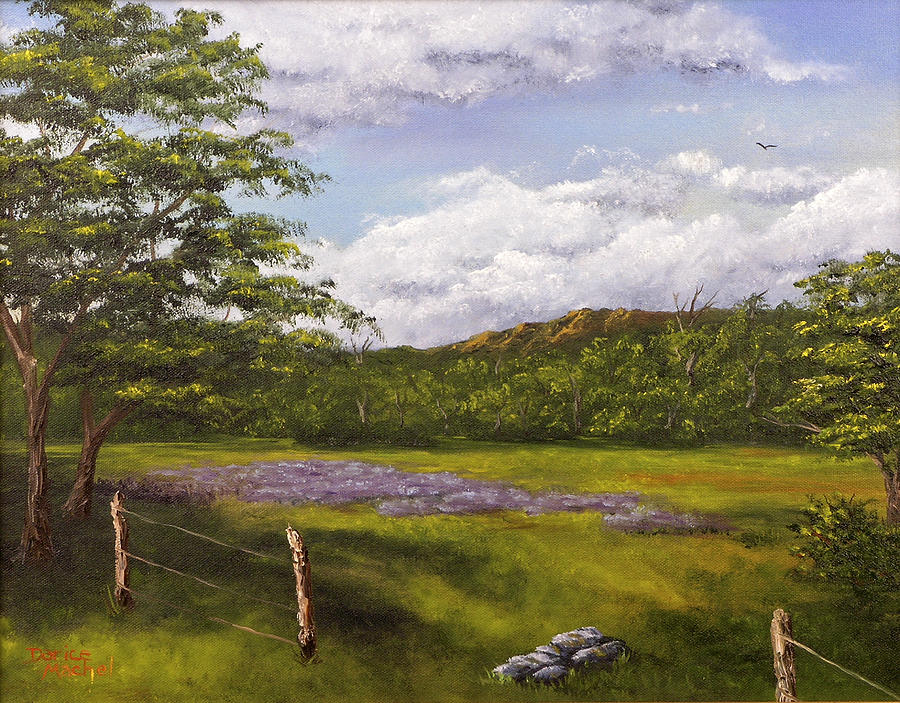 Table Mountain Painting - Table Mountain Meadow by Darice Machel McGuire