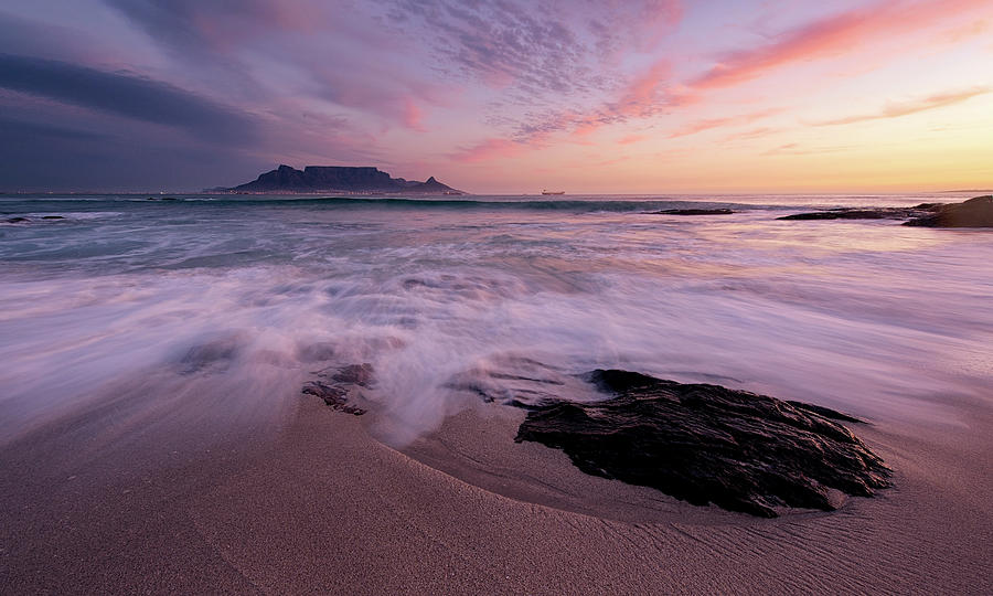 Table Mountain, Streaky Dusk Photograph by Paul Bruins Photography