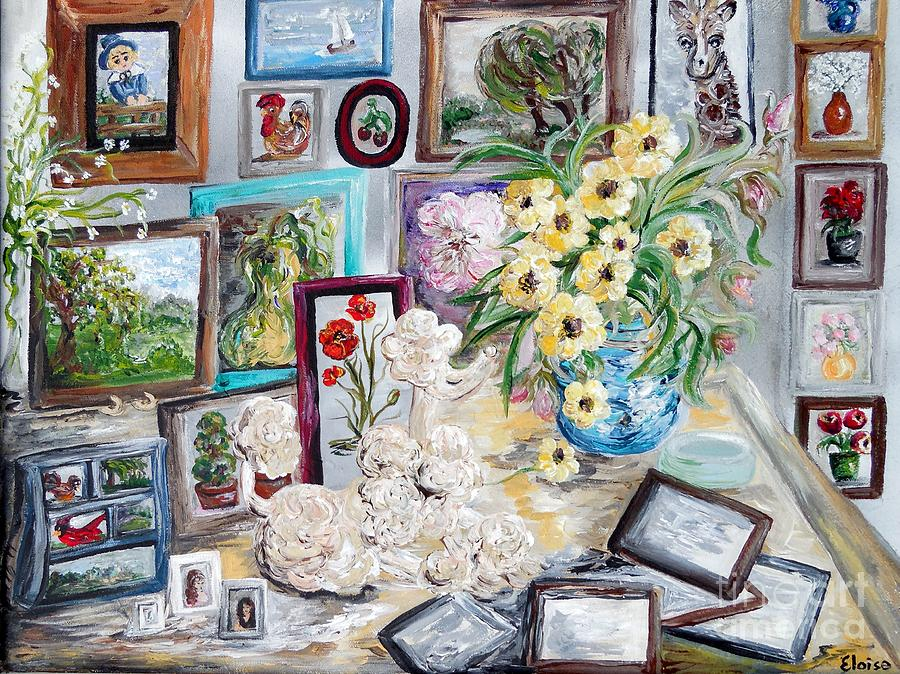 Table Painting - Table Of An Art Enthusiast by Eloise Schneider