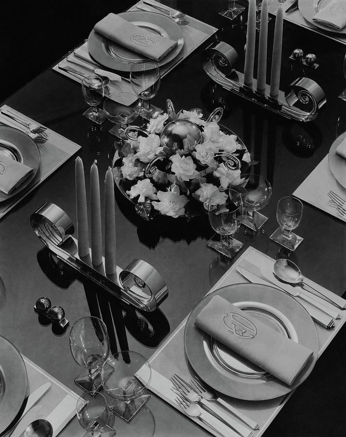 Table Setting Photograph by Eugene Hutchinson