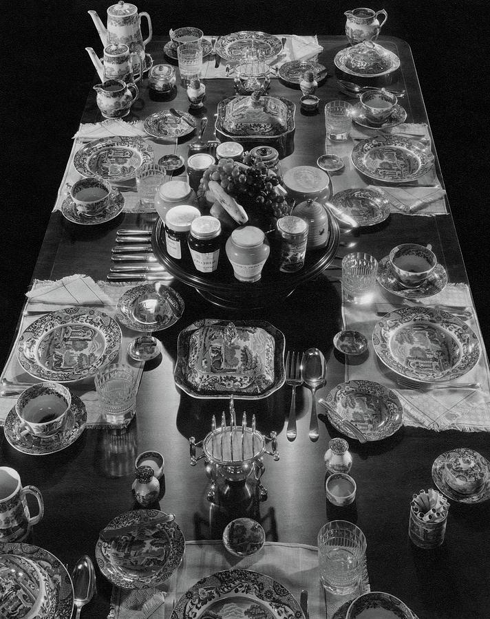 Table Settings On Dining Table Photograph by The 3
