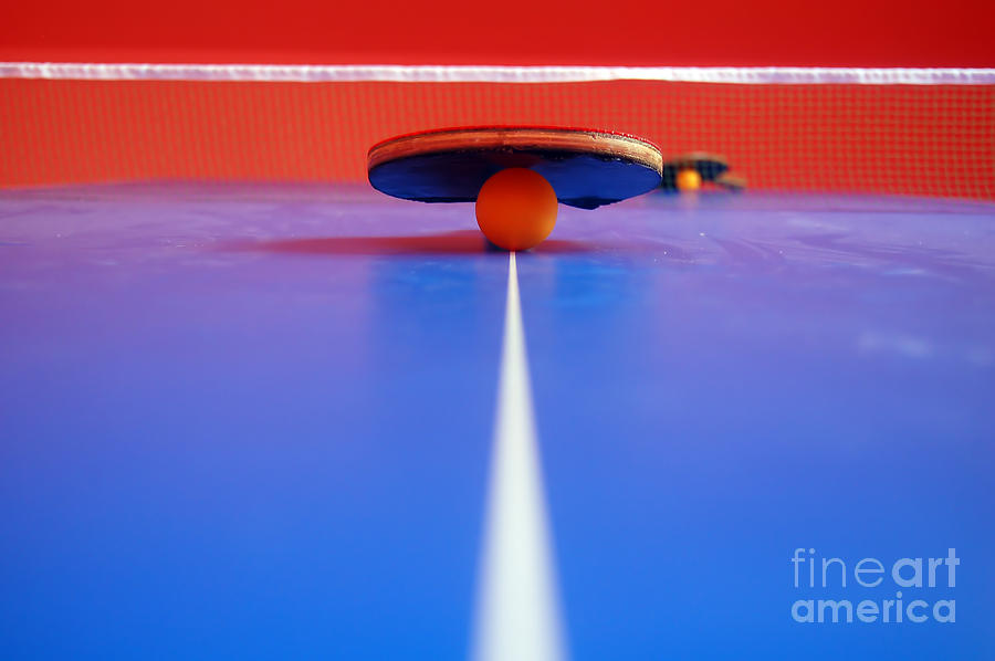 Action Photograph - Table Tennis by Michal Bednarek