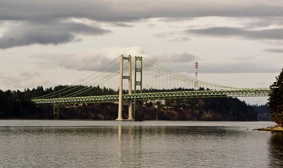 Tacoma Narrows Bridge Photograph - Tacoma Narrows Bridge II by Ron Roberts
