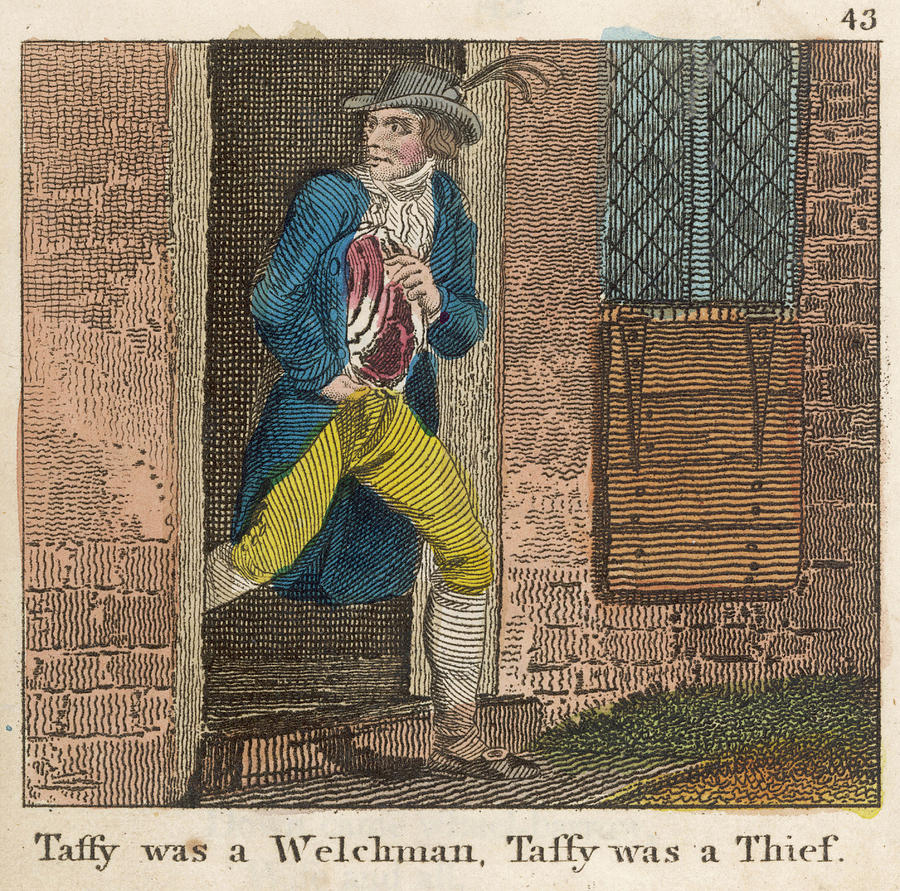 Taffy Drawing - Taffy Was A Welshman, Taffy by Mary Evans Picture Library