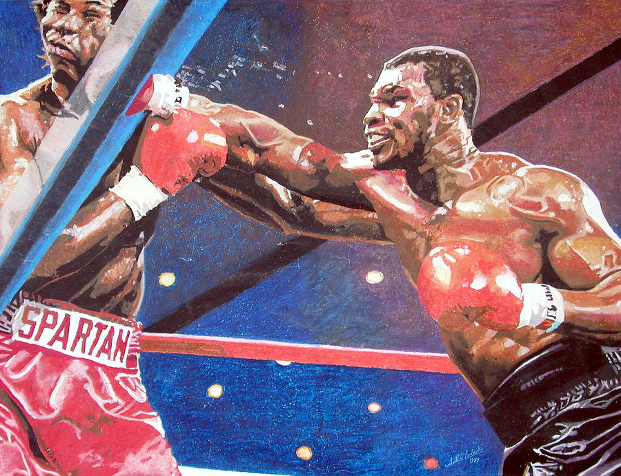 Sports Painting - Tag Youre Hit by Andre Ajibade