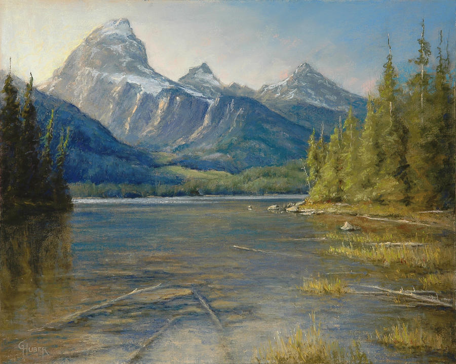 Pastel Painting - Taggart Lake Shallows by Gary Huber