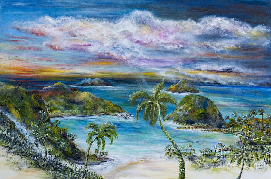Tahiti Painting - Tahiti resort by John Garland  Tyson