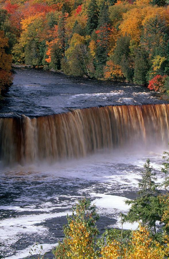 Autumn Photograph - Tahquamenon Falls by Joseph Sohm