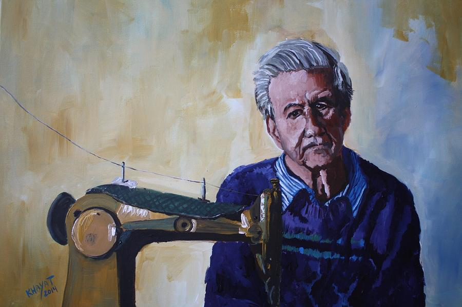 Tel-aviv Painting - Tailor From Tel-aviv by Marwan  Khayat