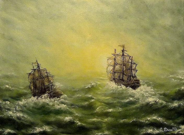Landscape Painting - Tailwind by Svetla Dimitrova