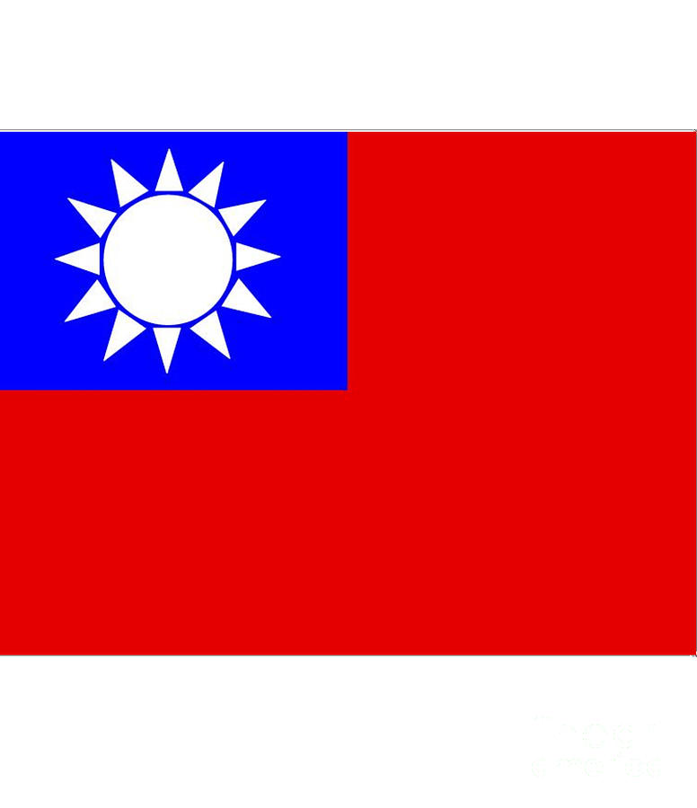 Taiwan Digital Art - Taiwan Flag by Frederick Holiday