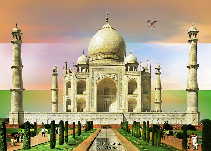 Taj Mahal Painting by Adrian Chesterman